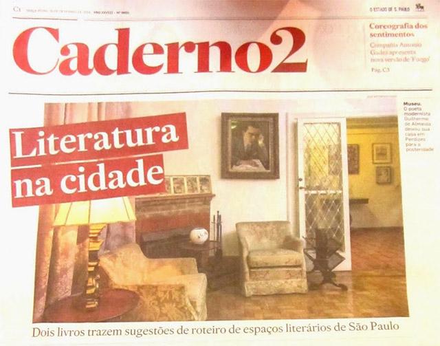 Rotas literárias de São Paulo no Estadão
