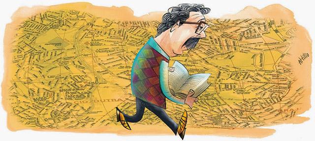 Rotas literárias na revista Veja São Paulo